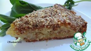 Рецепт Сметанный яблочный пирог с корицей и миндалем