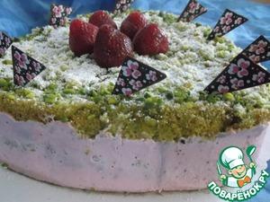 Рецепт Клубнично-фисташковый торт