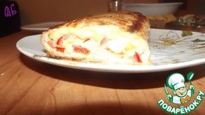 Рецепт Куриный рулет с сыром и болгарским перцем