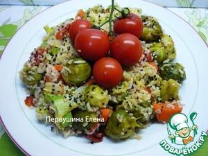 Рецепт Рагу быстрое овощное с рисом в медово-соевой заправке