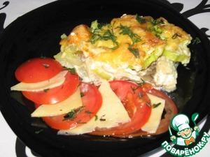 Рецепт Запеканка слоеная из овощей и мяса