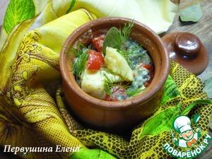 Рецепт Треска с овощами и грибами в сливочно-соевом соусе