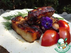 Рецепт Свиные ребрышки в соево-кленовой глазури