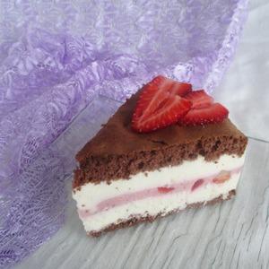 Рецепт Творожный торт с клубникой