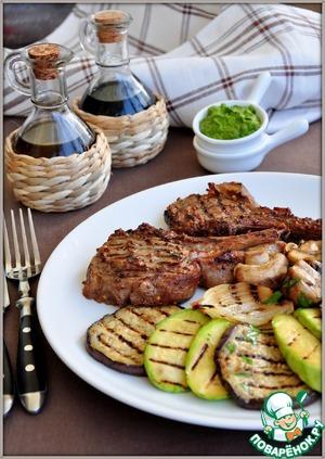 Рецепт Маринованное каре телятины с зеленым соусом