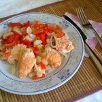 Сёмга с овощами в пароварке