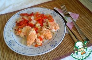 Рецепт: Сёмга с овощами в пароварке