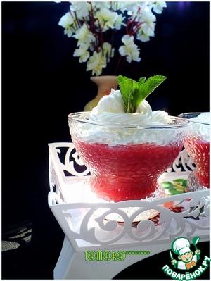Рецепт Кисель из овсяных хлопьев и вишни со взбитыми сливками