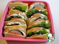 """Бутерброды """"Закусочные"""" сырно-овощные ингредиенты"""