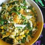 Щавелевый салат с кукурузой