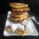 Сырные оладьи с кус-кусом