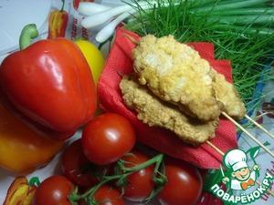 Рецепт Домашний куриный шашлычок в кляре