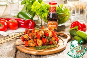 Рецепт Пряный куриный шашлычок с тимьяном