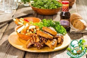 Куриные крылышки Барбекю вкусный рецепт с фото пошагово как приготовить