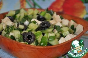 Рецепт Салат с тофу для вегетарианского или диетического пикника