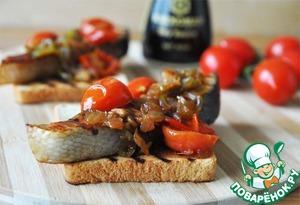 Рецепт Горячий бутерброд с маринованным лососем