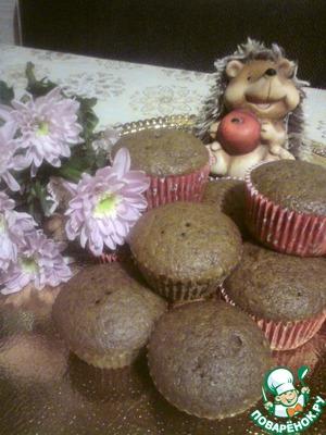 Рецепт Шоколадные кексы на кефире