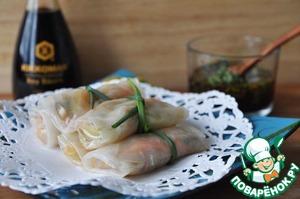 Рецепт Овощи в рисовой бумаге