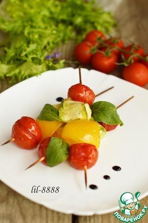 Рецепт Овощи на шпажках с сыром