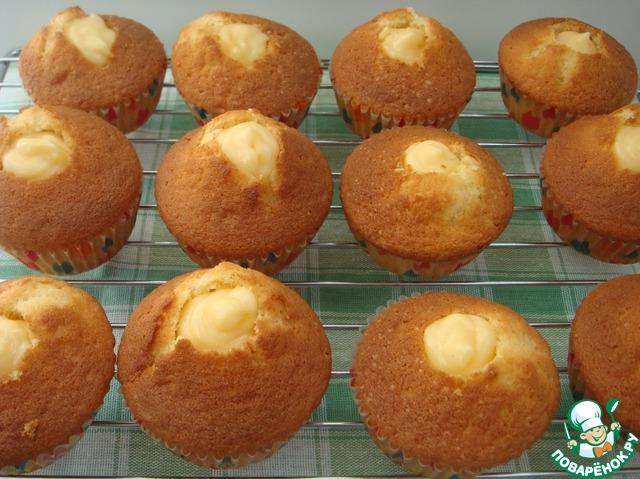 Лимонные кексы в бумажных формочках