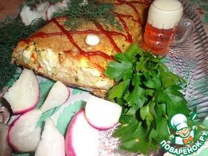 Рецепт Рыбно-рисовый рулет с яично-овощной начинкой