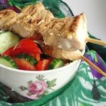 Куриные шашлычки в кефирном маринаде