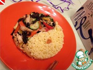 Рецепт Теплый салат из курицы по-китайски