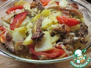 Рецепт Свинина, запеченная с овощами