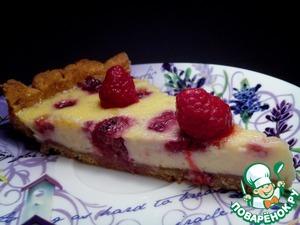 Рецепт Миндальный пирог с малиной и белым шоколадом