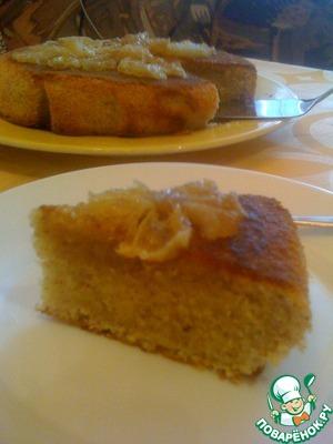 Рецепт Миндальный пирог с лимонной глазурью
