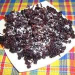 Сухое варенье из черноплодной рябины