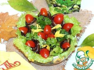 Тёплый салат из баклажанов с майонезной заправкой вкусный рецепт с фотографиями пошагово как приготовить