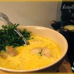 Молочный суп с шампиньонами