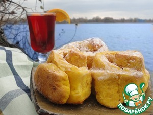 Рецепт Дрожжевые тыквенные булочки с корицей