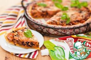 Рецепт Пирог с фасолью и беконом