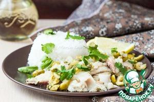 Рецепт Рыба с оливками и каперасми