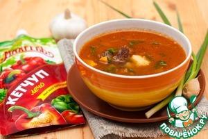 Рецепт Венгерский суп-гуляш с говядиной
