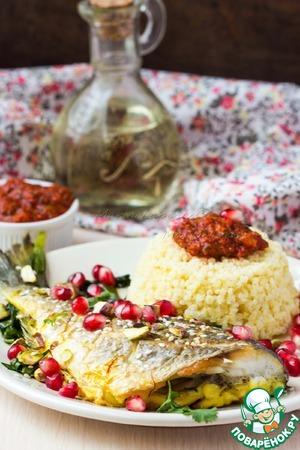Рецепт Рыба по-мароккански с пшеном