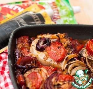 Рецепт Свиная отбивная с овощами