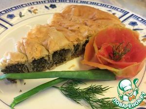 Рецепт Пирог со шпинатом и творогом Спанакопита