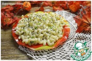 Рецепт Макароны в яично-сырном соусе с кунжутом