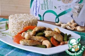Рецепт Курица с кешью и стручковой фасолью