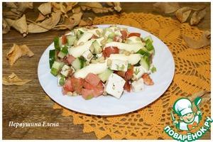 Как готовить Салат овощной с копченым сыром вкусный пошаговый рецепт приготовления с фотографиями