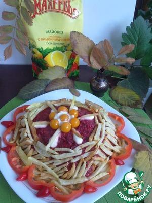Вкусный рецепт приготовления с фото Куриная грудка, запеченная в майонезно-свекольном соусе