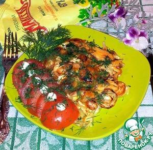 Рецепт Запечённый картофель с майонезом, сметаной под сыром