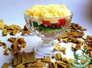 Рецепт Салат-коктейль с овощами и ветчиной