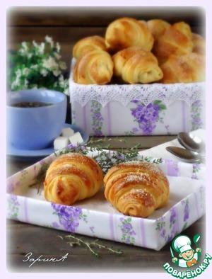 Рецепт Слоеные булочки с джемом и вареной сгущенкой