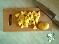 Салат с курицей, картофелем и зеленым горошком ингредиенты
