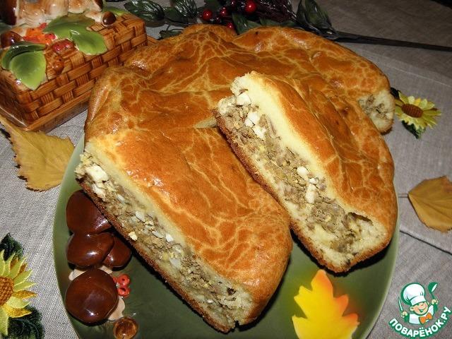 пирог с печенью на кефире рецепт