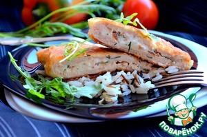 Рецепт Куриные отбивные с фетой и вялеными помидорами